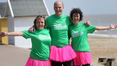 Alison Quilter, Simon Cudworth and Una Packworth are preparing to walk from London to Brighton in on
