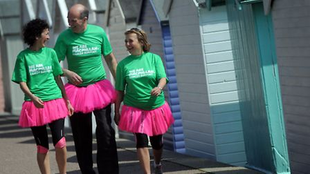 Una Packworth, Simon Cudworth and Alison Quilter are preparing to walk from London to Brighton on Ma