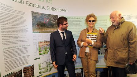 The public were invited to come and look at proposals for redevelopments of the clifftops at Felixst