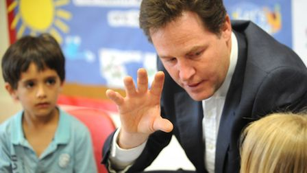 Deputy Prime Minister Nick Clegg visited the Busy Bees Nursery in Colchester today.