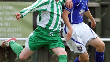 Whitton United skipper Kevin Inglis, left, in action