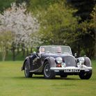 New and vintage Morgan cars head out on a rally from the Stoke by Nayland Hotel.