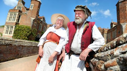 May Day celebrations at Kentwell Hall. 100 costumed Tudors engage in traditional celebrations with m