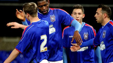 Jay Emmanuel-Thomas, centre, and Michael Chopra, right, have been transfer-listed by Town