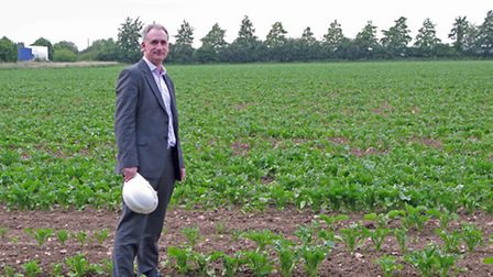 Dr Andrew Toft, director of projects at Eco2 Ltd, at the Mendlesham site the company is hoping to de