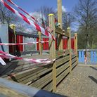 Part of the ship at the play area in Christchurch Park has been vandalised