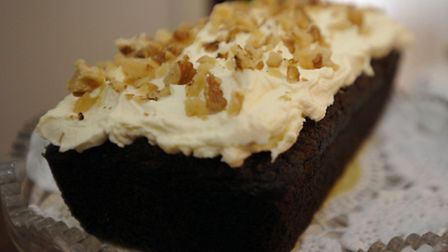 Carrot cake available in the buffet car