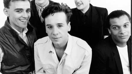 Jim Kerr and Simple Minds back in the day. Picture: Paul Cox