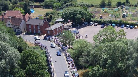A protest march against the Hadleigh Tesco