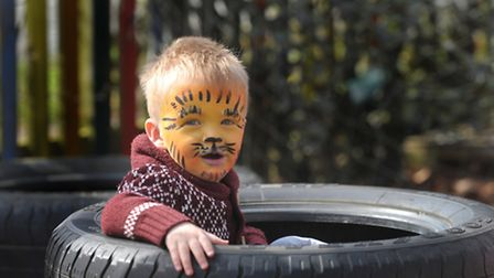 Rendlesham Day Nursery celebrated it's eighth anniversary with jungle themed celebrations. Freddy a