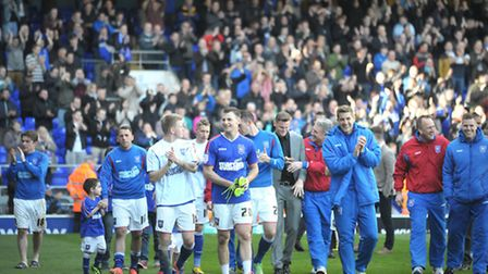 Ipswich Town players and children did a lap of honour at the end of the game.