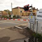 The new barriers at the level crossing on Bridge Street in Brandon. Photograph Simon Parker