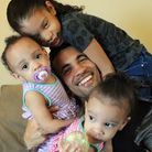 Ipswich Town captain Carlos Edwards gets his training in with his three girls, twins Makayla and Mak