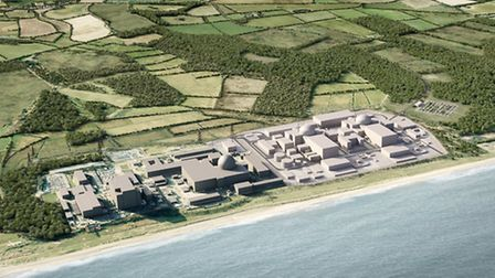 An artist's impression of what Sizewell C could look like