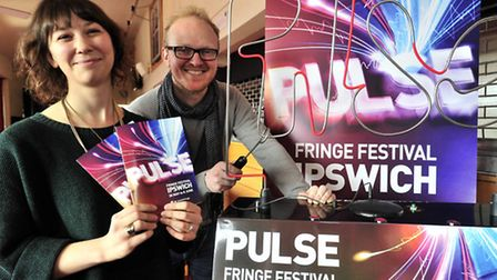 Rosie Kelly and Ed Collier of China Plate at the launch of this year's PULSE Fringe Festival. Pictur