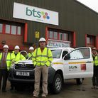 Celebrating BTS Group's RoSPA Gold award for health and safety are, from left, safety manager Roger
