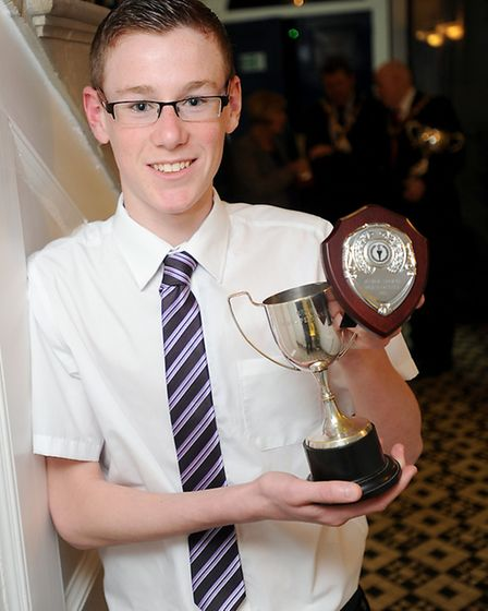 Junior Sports Personality of the Year, Matthew Haskell.