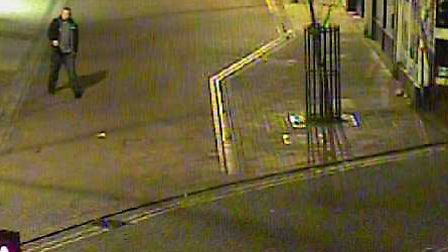A man the police would like to speak to in connection with criminal damage in Ipswich.