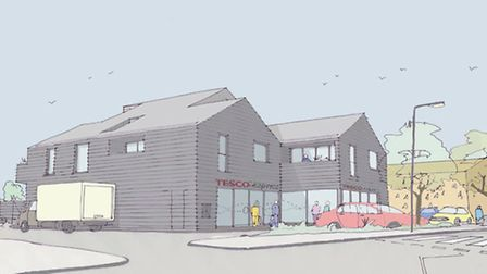 An artist's impression of the soon to be built Tesco Express store in Aldeburgh