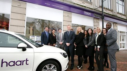 The sales and lettings teams at the new branch of haart in Ipswich