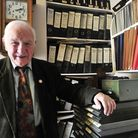 David Routh of Ipswich who has retired after more than 60 years with the same printing company