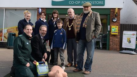 A new defibrillator has been installed at the Co-op store in Great Cornard