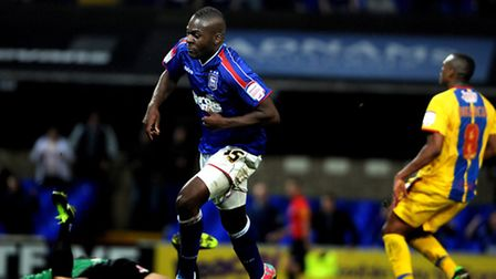 Ipswich Town entertain Crystal Palace at Portman Road Frank Nouble second goal