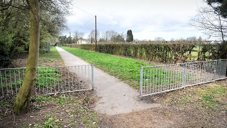 A dog waste bin near Raynham Road in Bury St Edmunds has been severely damaged by a small explosion.