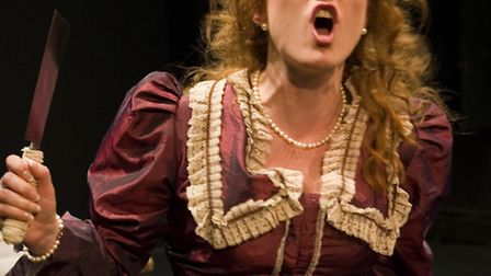 Felicity Rhys as Miss Julie in UK Touring Theatre's production of Miss Julie