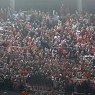 Bayern supporters celebrate advancing to the final after the Champions League semifinal second leg s