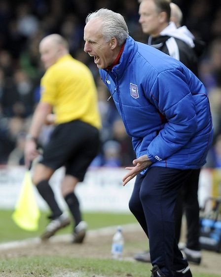 Mick McCarthy vents his frustrations on the touchline at Ashton Gate as Ipswich throw away a lead to