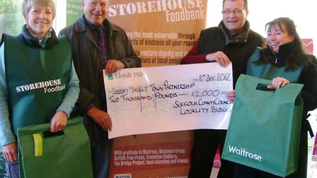 County councillors Colin Spence and John Sayers donated £2,000 from their locality budgets to the Su