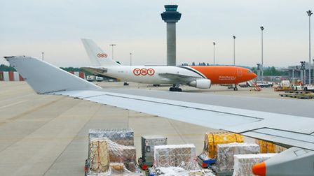 Cargo operations at Stansted Airport