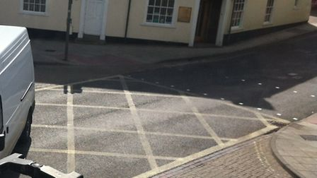 The yellow box junction in Stowmarket
