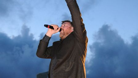 Guy Garvey, lead singer from Elbow, who headlined the main stage on Saturday evening