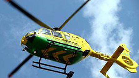 The air ambulance was called to Thetford Forest