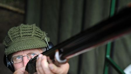 A clay pigeon shoot at the High Lodge shooting school