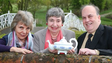 Dr Jane Pearson, Cynthia Williams and Professor James Raven at Marks Hall