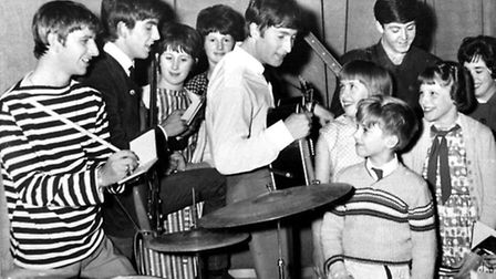 The Beatles meeting fans backstage at the Gaumont Theatre, Ipswich, in 1963.
