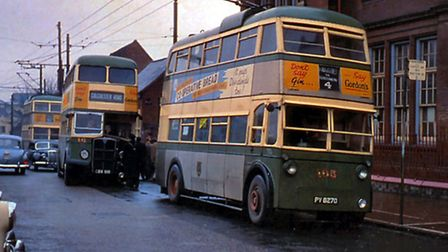 How the number 105 trolleybus looked in the early 60s