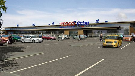 Artist impression of new Tesco in Newmarket