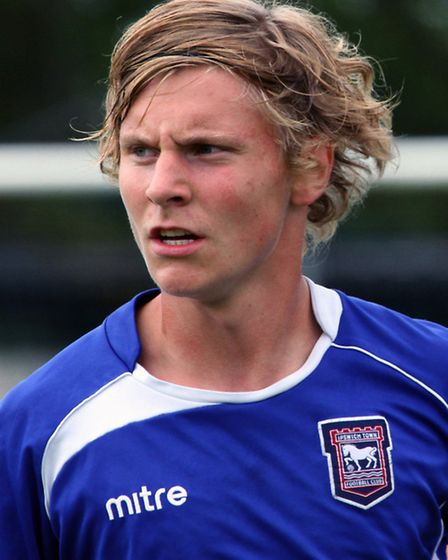 Gunnar Thorsteinsson in action for Town's youngsters