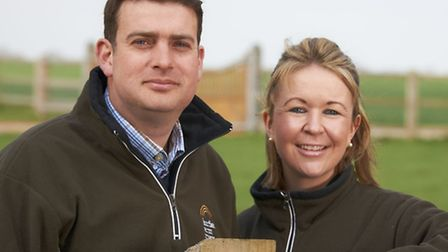 Potato farmers and Fairfields Farm Crisps owners Robert and Laura Strathern