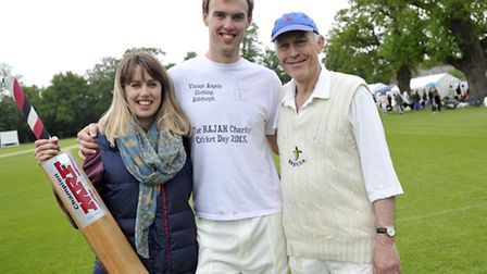 Rosie, Harry and James Lightfoot organized the RaJaH childrens home charity cricket match at Brande