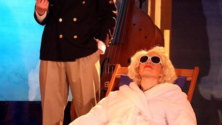 Some Like It Hotter with Paul Matania as Tony Curtis and Sarah Applewood as Marilyn Monroe