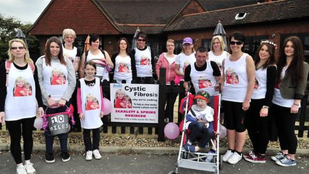 Julie Jones, whose sister died from cystic fibrosis in 1977 has organised a power walk to raise mone