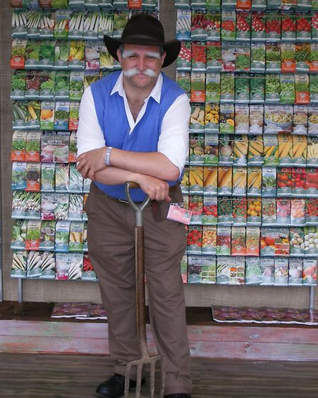 David Turner, product manager of Fothergill's Seeds, Newmarket, makes a fair represenation of the co