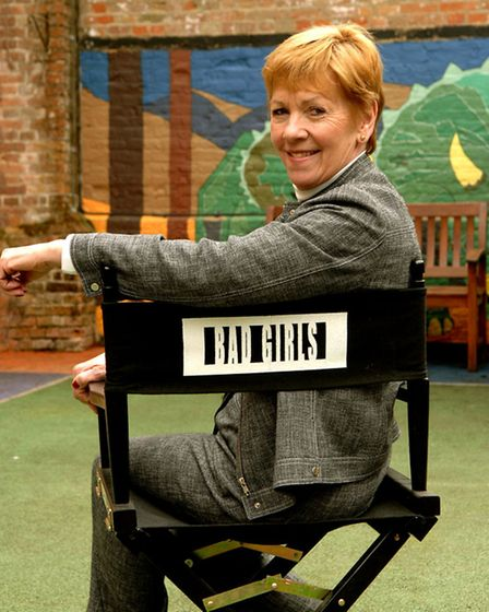 Actress Helen Fraser with the chair she used on Bad Girla.