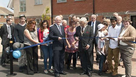 Guests and members of the community gathered to mark the officially unveiling of five new affordable