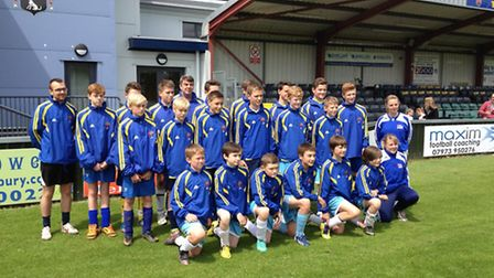 26 young players aged between 13 and 15 years from AFC Sudbury Grassroots will be heading for the tw
